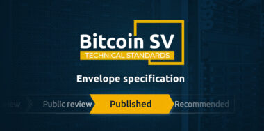 TSC envelope specification targets better data transactions on BSV